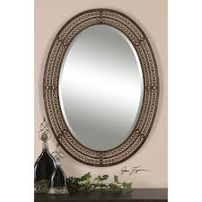 bathroom ideas patterned oil rubbed bronze oval bathroom mirrors