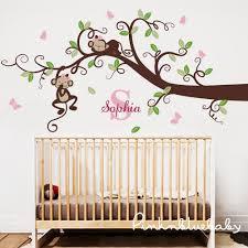 Monkey Decor For Nursery Nursery Wall Decal Branch Tree Decal Baby Nursery