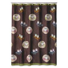 interesting bathroom accessories owls shower curtain set on a