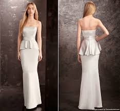 vera wang bridesmaid white by vera wang sterling peplum bridesmaid dress recent