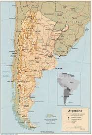 physical map of argentina maps of argentina
