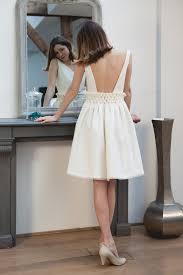 robe mariã e sur mesure robe de mariée courte smokée par mathilde créatrice de robe