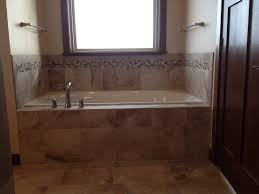 bathroom tile trim ideas tiled tub front and decking with mosaic trim design by dennis