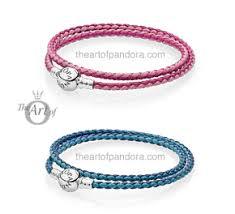 pandora leather bracelet pink images Pandora summer 2017 leather bracelets the art of pandora more jpg