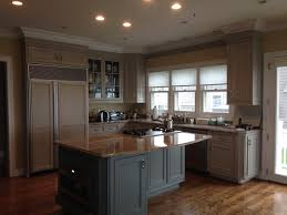 hand painted kitchen islands custom hand painted wood grained cabinets in a soft grey driftwood