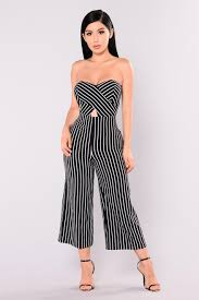 black and white jumpsuit for striped culotte jumpsuit black white