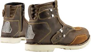 racing boots mens icon 1000 brown leather el bajo motorcycle riding street