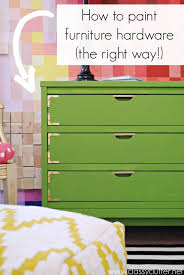 How To Paint The Hinges Or Hardware On Your Cabinets Or Furniture How To Paint Hardware The Right Way Classy Clutter