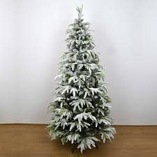 real look designer artificial tree snow covered