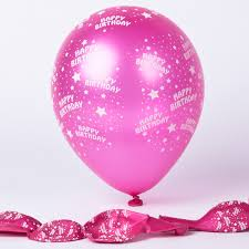 happy birthday balloon metallic pink happy birthday balloons pack of 6 only 1 49