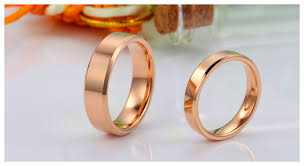 wedding bands for couples engravable matching wedding bands in tungsten with 18k