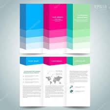 3d dimensional design brochure template folder leaflet colored