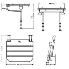 Folding Shower Seat Fold Up Wooden Slatted Shower Seat