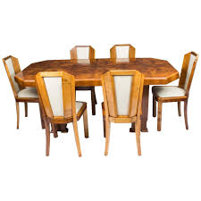 antique art deco burr walnut dining table six chairs circa 1930 antique art deco burr walnut dining table six chairs circa 1930 for sale at 1stdibs