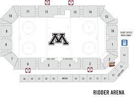 ridder arena seating charts