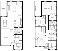 simple 2 story small house floor plans alovejourney me