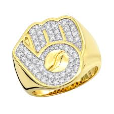 ball rings images Mens diamond rings baseball glove and ball ring 10k gold 1 2ct by jpg