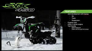 motocross snow bike arctic cat 2017 svx 450 snowbike snow bike world