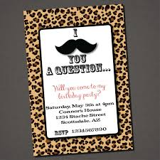 printable lepord print invitations free printable leopard print
