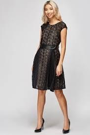 black skater dress mesh overlay black skater dress just 5