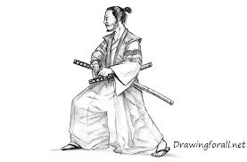 how to draw a samurai drawingforall net
