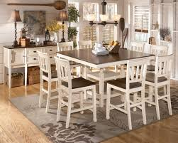 white kitchen set furniture whitesburg 9 square counter height extension table set in