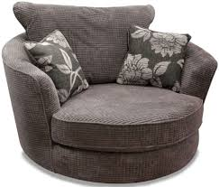 Fabric Swivel Chairs by Buy Buoyant Paris Lush Charcoal Fabric Snuggle Swivel Chair Online