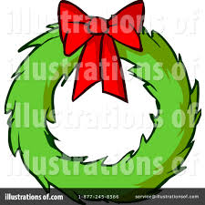 christmas wreath clipart 1106614 illustration by cartoon solutions