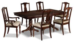 alice 7 piece dining room set cherry leon u0027s