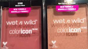 new formula wet n wild color icon blushes review try on youtube