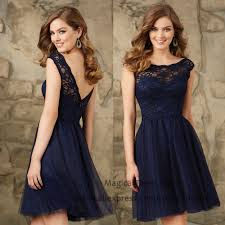 aliexpress com buy modest short navy blue bridesmaid dresses