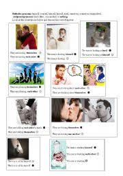 english worksheets reflexive pronouns reciprocal pronouns or