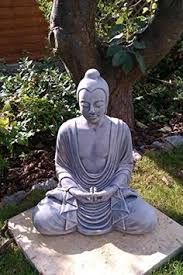 large buddha statue with solar powered warm white led s http
