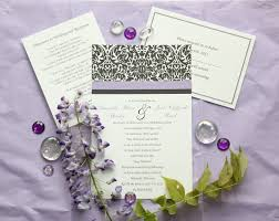 damask wedding invitations black white damask wedding invitation custom color set