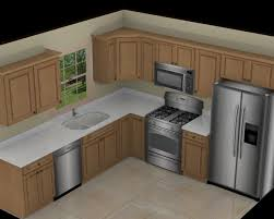 L Shaped Kitchens by Kitchen Awesome L Shape White Marble 10x10 3d Kitchen Plan With