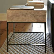 side table with laptop storage perfect industrial storage side table west elm greenvirals style
