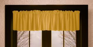 Solid Color Valances For Windows Solid Antique Gold Colored Window Valance