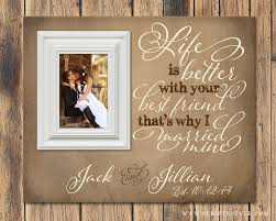 Personalized Wedding Photo Frame Personalized Picture Frame Life Is Better With Your Best Friend