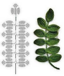 amigurumi leaf pattern leaves crochet diagrams video flowers pinterest crochet