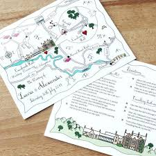 postcard wedding invites wedding or party illustrated map