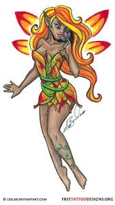 Fairy And Flower Tattoo Designs Fairy Flower Tattoo Design Fairy Flower Tattoos Pinterest