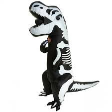 T Rex Costume Giant T Rex Skeleton Inflatable Costume Morph Costumes Us