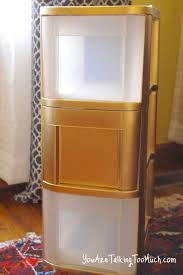 furniture elegant sterilite drawers in gold and white theme for