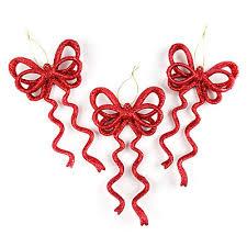 glitter bow ornaments 6 pack at big lots biglots biglots