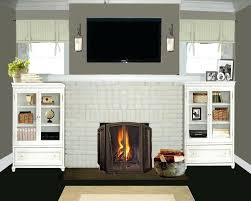 painting brick fireplaces color ideas for brick fireplace design