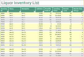 Bar Liquor Inventory Spreadsheet 5 Liquor Inventory Spreadsheet Procedure Template Sle