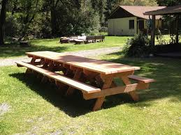 Designs For Wooden Picnic Tables by 24 Picnic Table Designs Plans And Ideas Inspirationseek Com