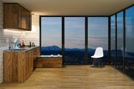 wooden kitchen furniture wooden kitchen furniture in modern interior evening view from b