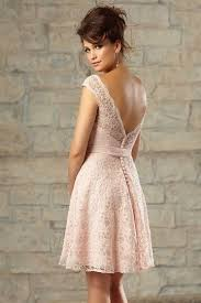 robe de ceremonie mariage robe en dentelle pour cocktail de mariage dos