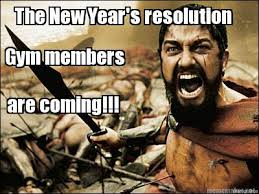 New Years Gym Meme - meme maker the new years resolution gym members are coming